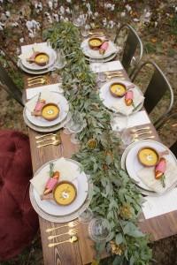 backyard table w leaves