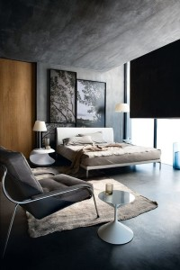 mono art concrete modern bed