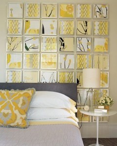 mono art yellow dozens bedroom