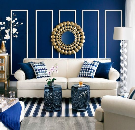 Cobalt Blue Living Room: What's Hot By JIGSAW DESIGN GROUP