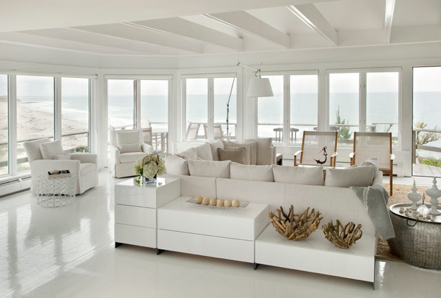 Relaxing All White Beach House Vacation