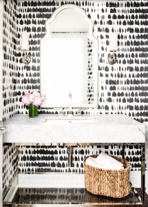 blk wht wallpaper powder