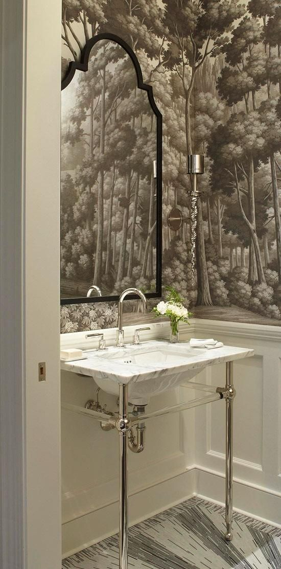 Powder room what 39 s hot by jigsaw design group - Small powder room designs ...