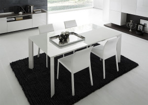 Rossetto white lac table
