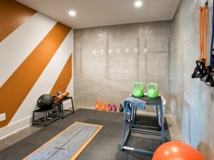 orange stripe gym