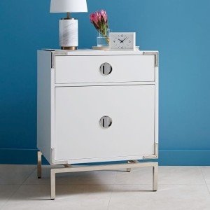west elm white lac night stand