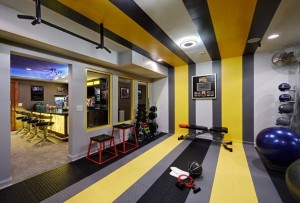 yellow stripe gym