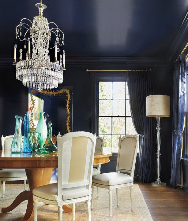 That Ceiling And Navy Furniture
