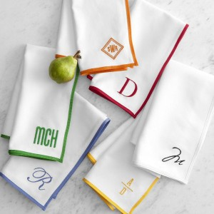 Mark and Graham Monogrammed grosgrain napkins