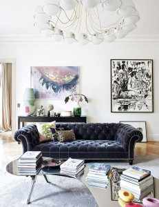 blak tufted french apartment tre chic