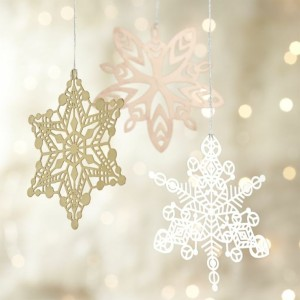 crate and barrel snow flakes