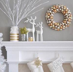metal white mantel socking