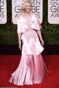 Kate Blanchett pale pink 20s fringe