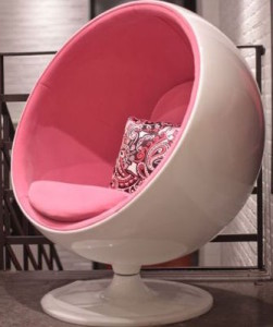 bubble gum orbit chair