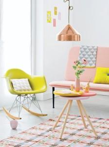hudson pink love seat
