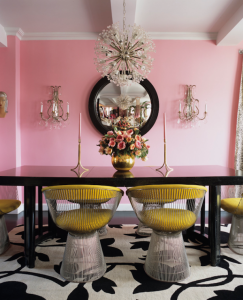 perry pink dining room