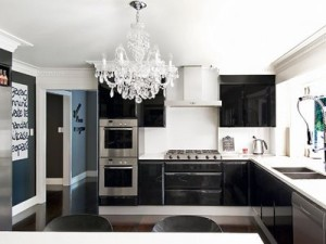 balck gloss cabs and stove