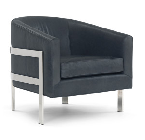 metal framed accent chair graphite