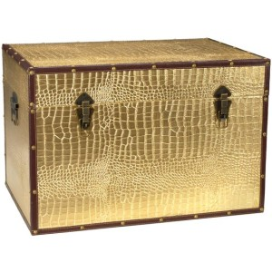 Gold Faux Croc Trunk