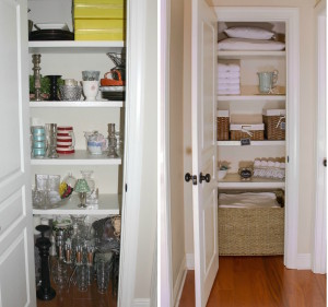 Linen closet Before & After
