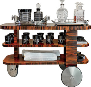 1930's french bar cart