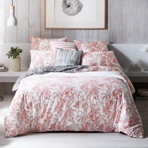 floral bedding grey wash
