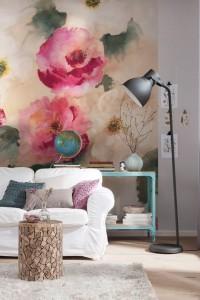 floral oversized art