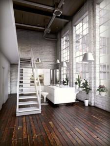 industrial white ktichen