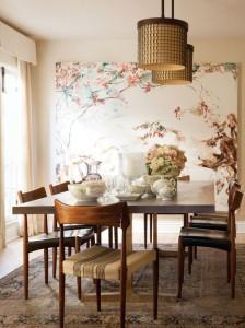 mid century w floral art