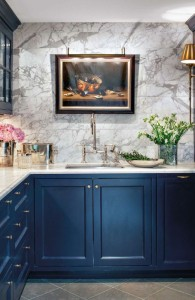 navy marble wall traditional