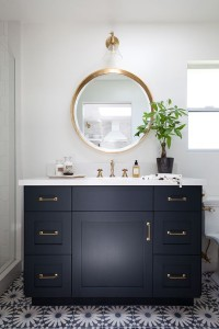 navy powder room