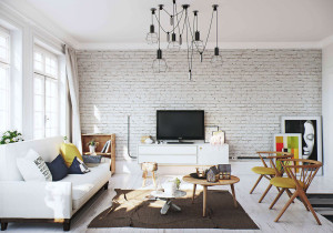white-brick-wall floors sofa