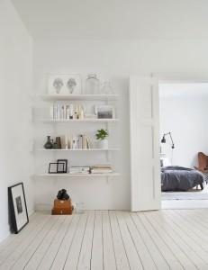 white scandi floors walls