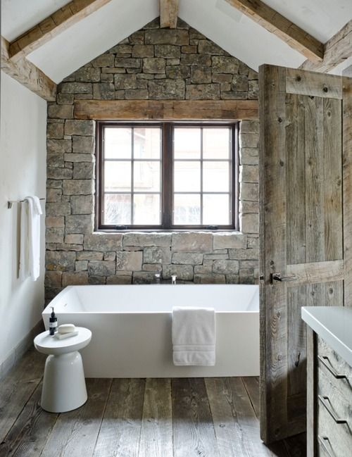 Rock Wall Bathroom