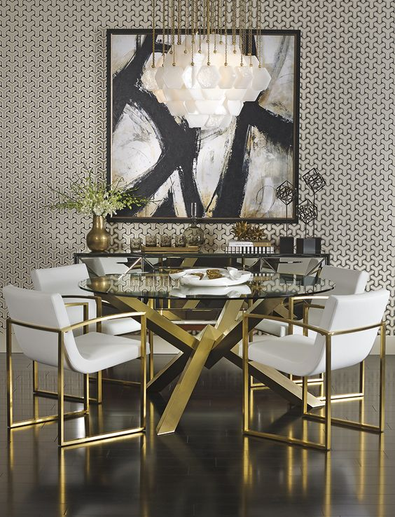 Dining Table With Gold Legs Uk - Dining room ideas